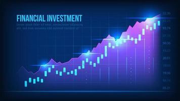 gráfico de crescimento do mercado de ações