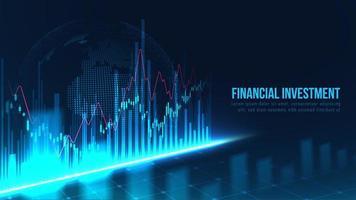 conceito gráfico de gráfico de investimento financeiro global