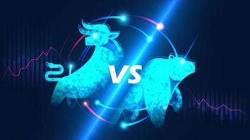mercado de ações em alta versus baixa