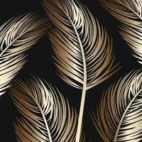 folhas de palmeira dourada vetor