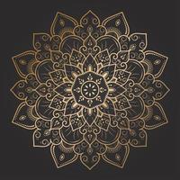 mandala floral elegante do ouro do redemoinho vetor
