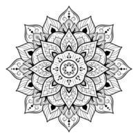 mandala decorativa oriental vetor