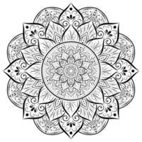 mandala de flor arredondada ornamento