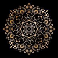 design de mandala vintage de luxo ouro vetor