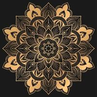design elegante mandala na cor ouro vetor