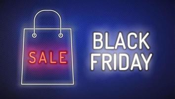 sexta-feira venda sinal noen preto com saco