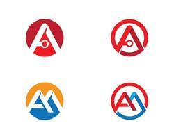 carta circular, um conjunto de logotipo vetor