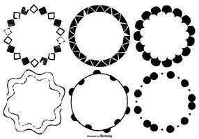 Molduras vetoriais desenhadas à mão vetor