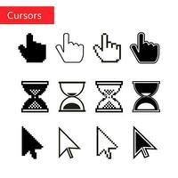 conjunto de cursor de pixel do mouse
