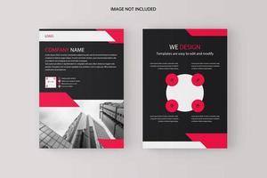 modelo de panfleto de negócio vermelho preto vetor