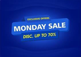 cartaz de venda de oferta exclusiva azul moderna vetor
