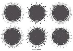 Emblemas Sunburst estilo vintage vetor