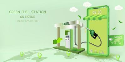 projeto de aplicativo on-line de posto de combustível vetor