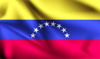 venezuela 3d bandeira fluindo vetor