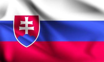 bandeira 3d eslovaca vetor