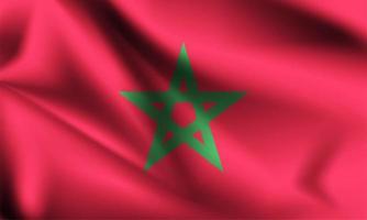 bandeira 3d de marrocos vetor