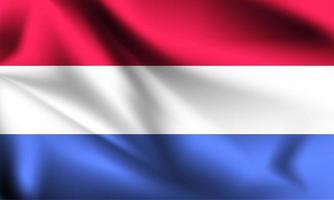 bandeira 3d dos países baixos vetor