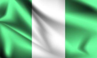 bandeira 3d nigeriana vetor