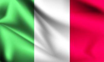 bandeira 3d da itália vetor