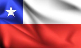 bandeira 3d do chile vetor