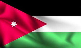 bandeira 3d da jordânia