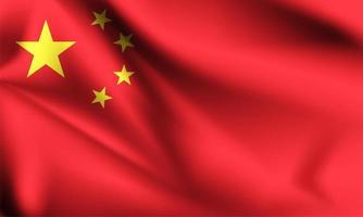bandeira 3d da china vetor