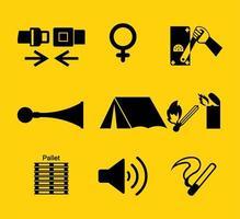 símbolo de equipamento de proteção individual vetor