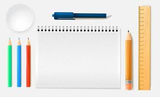 ferramentas de volta às aulas vetor