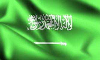 bandeira 3d da arábia saudita vetor