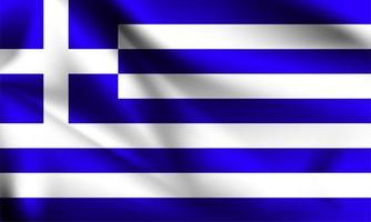 bandeira 3d da grécia vetor
