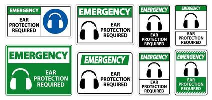 proteção auditiva de emergência necessário símbolo inscreva se vetor