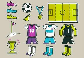 Pacote Vector do Kit de Futebol