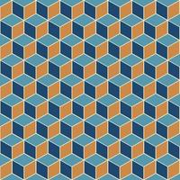 padrão de cubo isométrico vetor