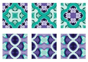 Vector de azulejo decorativo de Portugal