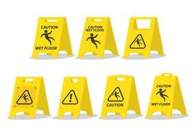 Painel de precaução do piso molhado vetor
