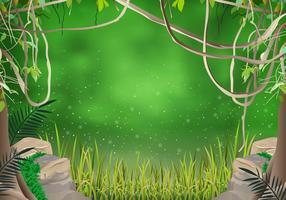 A Liana da selva vetor