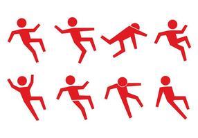 Ícone de pessoas escorregadias vetor