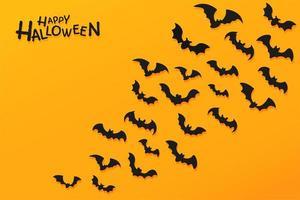 cartaz de halloween com silhuetas de morcego-vampiro vetor