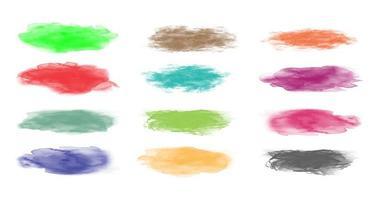 conjunto de pinceladas coloridas vetor