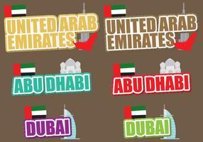 Títulos dos Emirados Árabes Unidos vetor