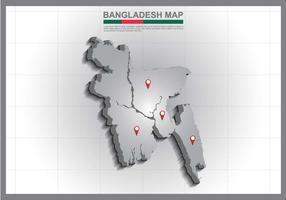 Ilustração livre do mapa de Bangladesh vetor