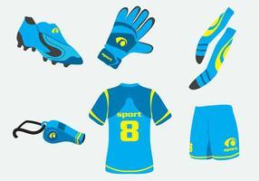 Vetor de kit de futebol azul