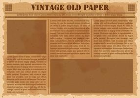 Jornal antigo do vintage vetor