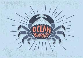 Ilustração livre do vetor do caranguejo plano