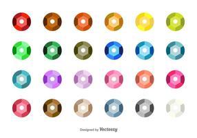 Conjunto de vetores de lantejoulas coloridas