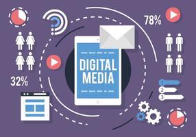Vector de infografia de mídia social
