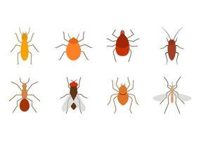 Vector de ícones de insetos grátis