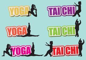 Tai Chi e Yoga Títulos vetor