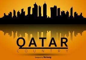 Horizonte da silhueta do vetor de Qatar