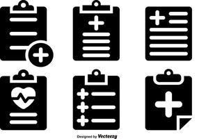 Conjunto de vetores de ícones de almofadas de prescrição